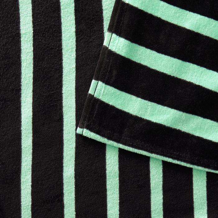 Handdoek Basic L print Geo groen 145 x 85 cm