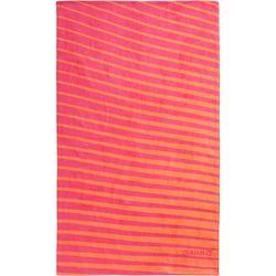 Handdoek Basic L print Geo roze 145 x 85 cm