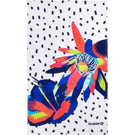 Toalla Playa Surf Olaian  Basic Street Print 145 x 85 cm algodón