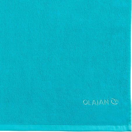 Toalla Playa Surf  Olaian Basic S Azul Martinica 90 x 50 cm Algodón