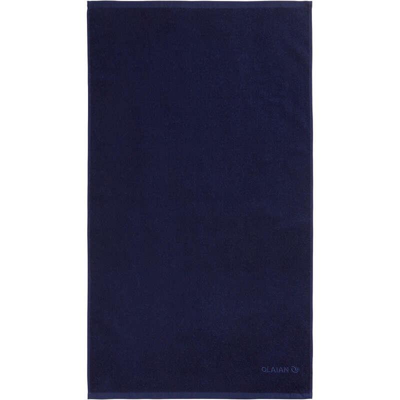 TELI Sport Acquatici - Telo mare BASIC S 50x90 cm blu scuro  OLAIAN - Infradito, accessori mare