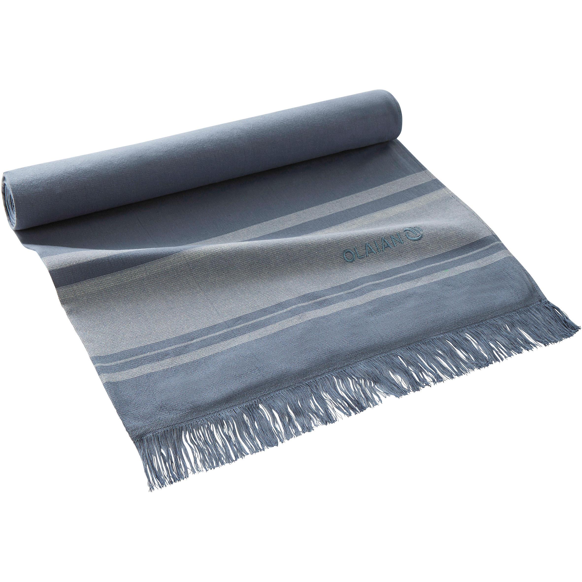 FOUTA DOUBLE TOWEL 170 x 150 cm - Powder