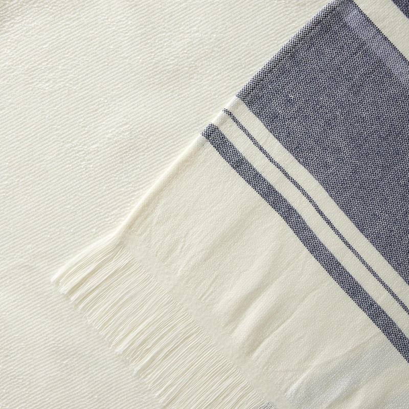 Beach Towel Fouta - Avorio Navy