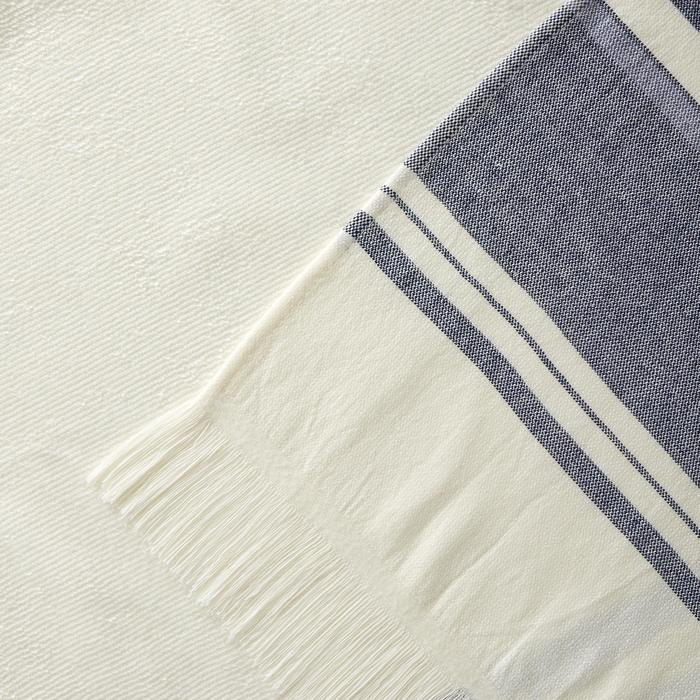 Hamamdoek Fouta Avorio marineblauw 170 x 100 cm