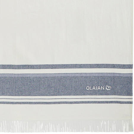 Towel FOUTA 170 x 100 cm Avorio Navy