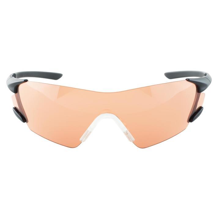 Schietbril voor kleiduifschieten rood