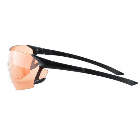CLAY PIGEON SHOOTING PROTECTIVE GLASSES 100, RED STRONG LENSES, CATEGORY 2