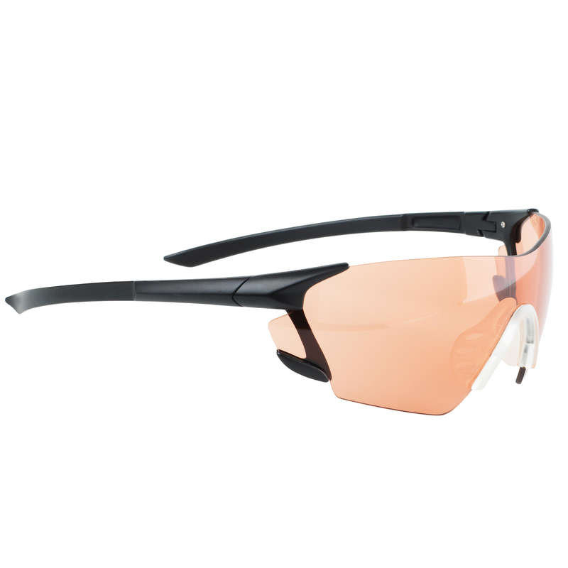 HEARING PROTECTION/GLASSES Shooting and Hunting - CLAY GLASSES 100 RED SOLOGNAC - Clay Pigeon Shooting