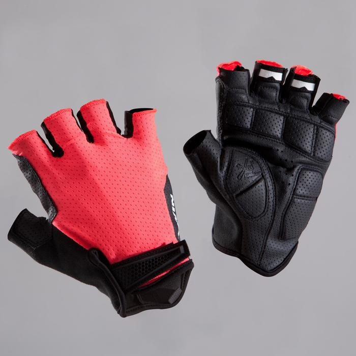 Gants vélo route RoadCycling 900 rose fluo