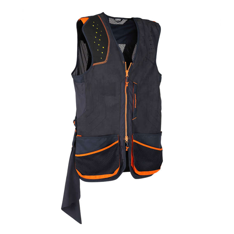 CLAY SHOOTING EQUIPMENT Shooting and Hunting - CLAY 900 CLAY SHOOTING GILET SOLOGNAC - Clay Pigeon Shooting