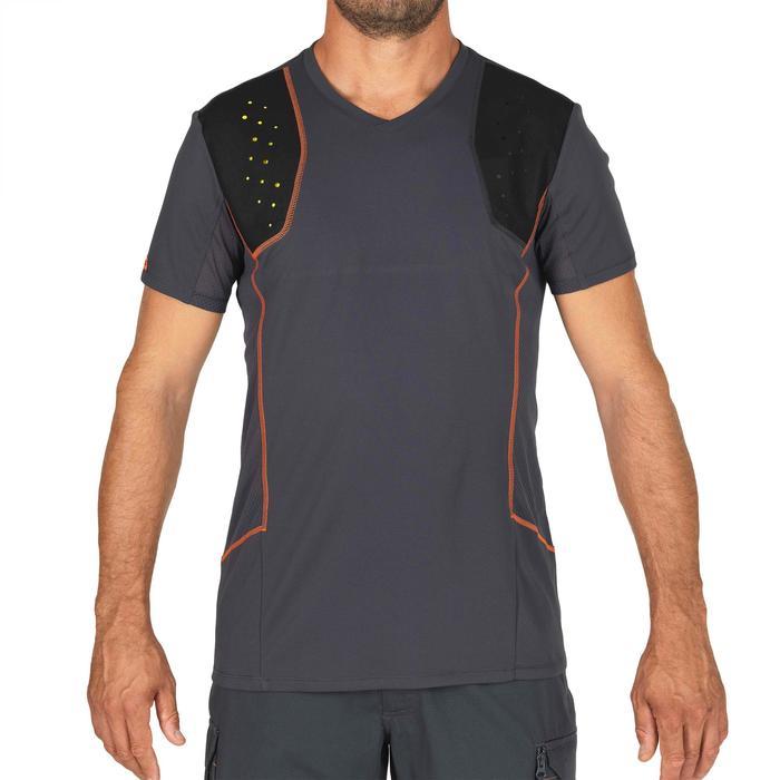 Camiseta Tiro Solognac Clay 900 Negro Acolchado Espuma Xrd
