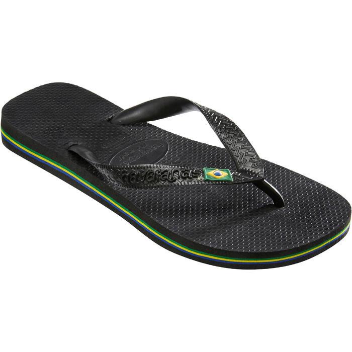 Slippers Brasil zwart