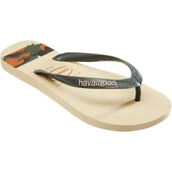 Herenslippers Top Stripe beige