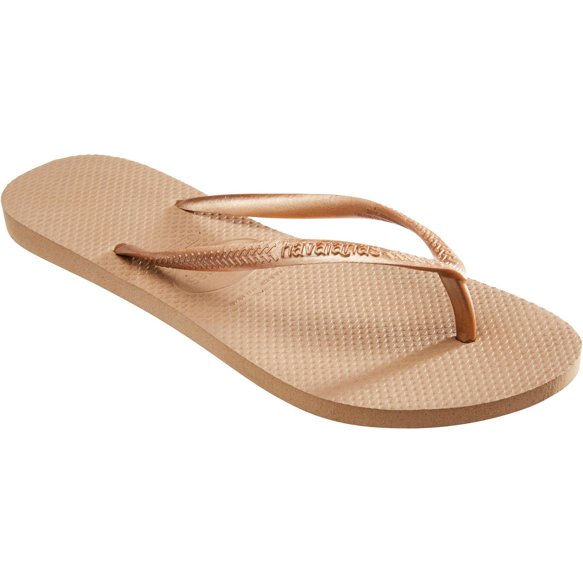 2418932 Havaianas Damesslippers Slim roze goud