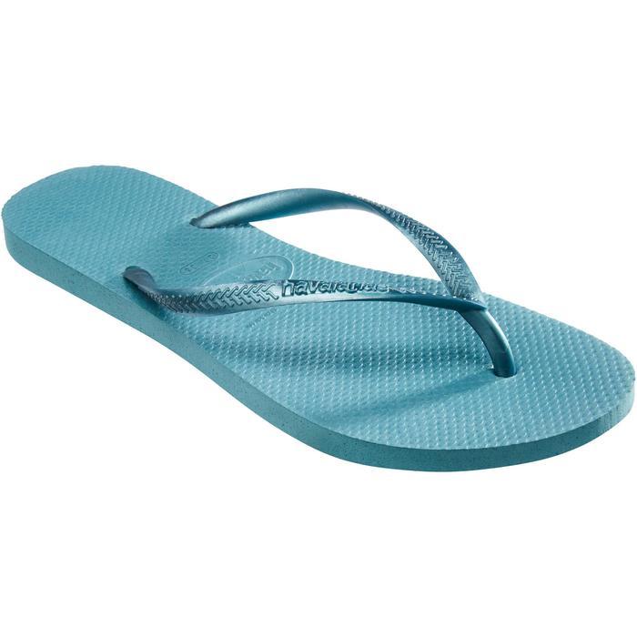 Damesslippers Slim Mineral blauw