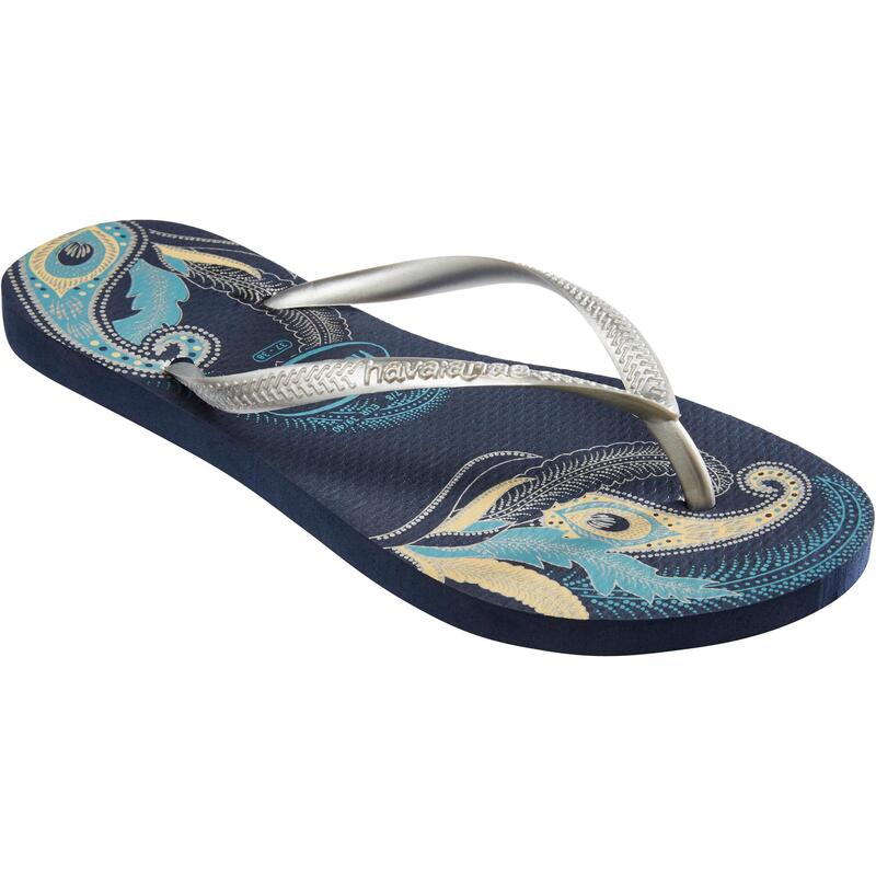 Slim W Flip-Flops - Organic Blue