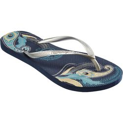 Slippers Slim D Organic blauw