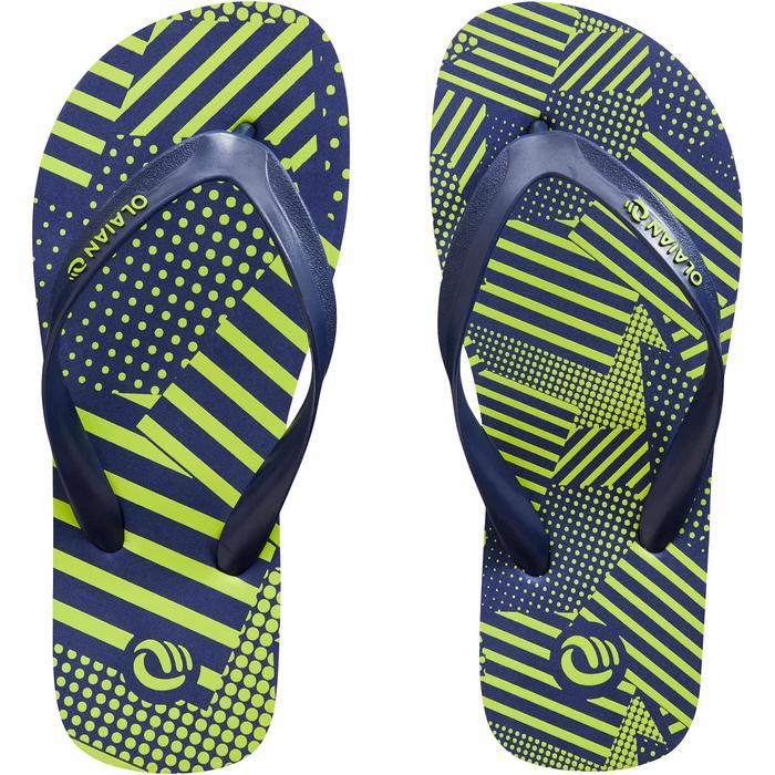 男童款夾腳拖鞋TO 120-補丁綠