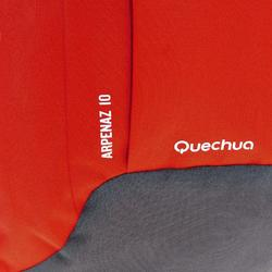 Wanderrucksack NH100 10 Liter rot/grau
