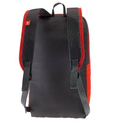 حقيبة ظهر Arpenaz 10 لتر للتنزه - أحمر/ رمادي
