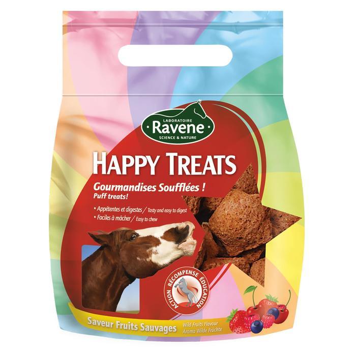 Friandises équitation cheval et poney HAPPY TREATS fruits rouges - 200 gr - 1289017