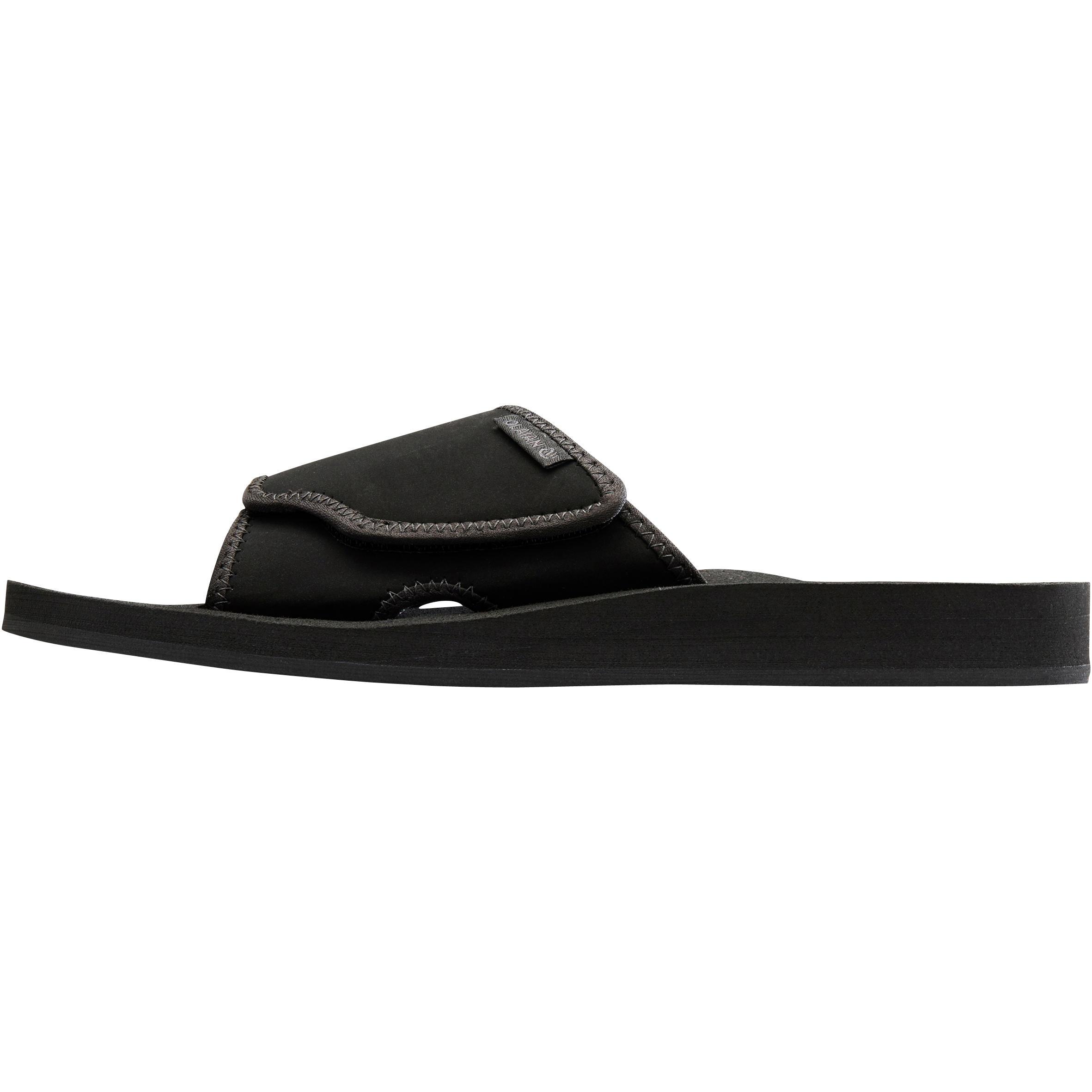 sandales de plage homme SLAP 550 M noires