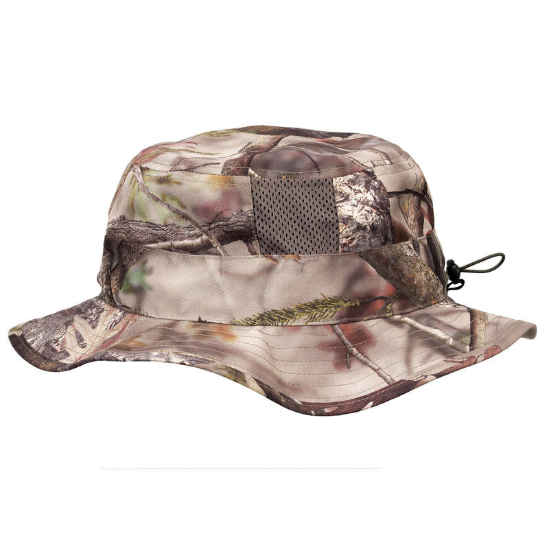 CAMO CLOTHING DRY/WET WEATHER Shooting and Hunting - Breathable Hat 500 Wood Camo SOLOGNAC - Hunting and Shooting Clothing