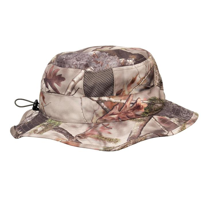 Chapeau BOB chasse Respirant 500 CAMOUFLAGE FORET
