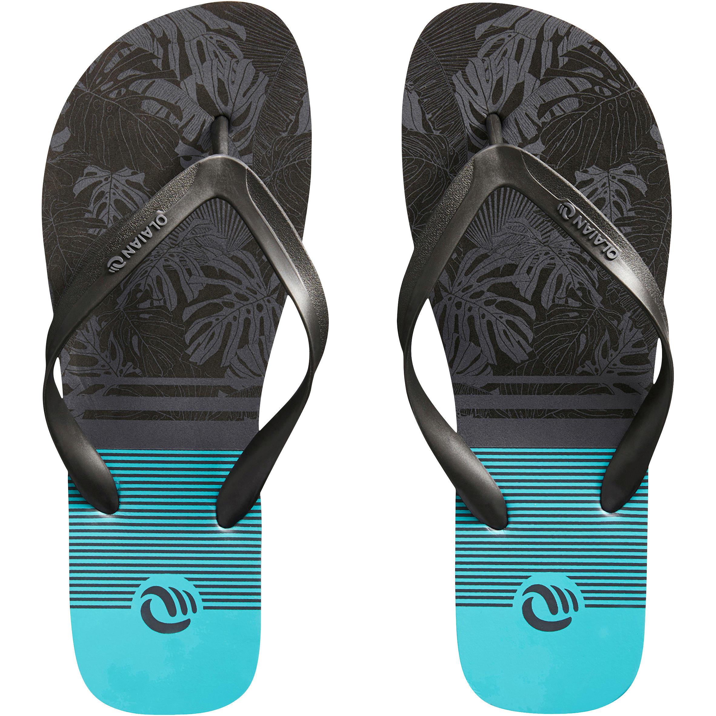 Sandales de plages homme TO 150 M floral bleu