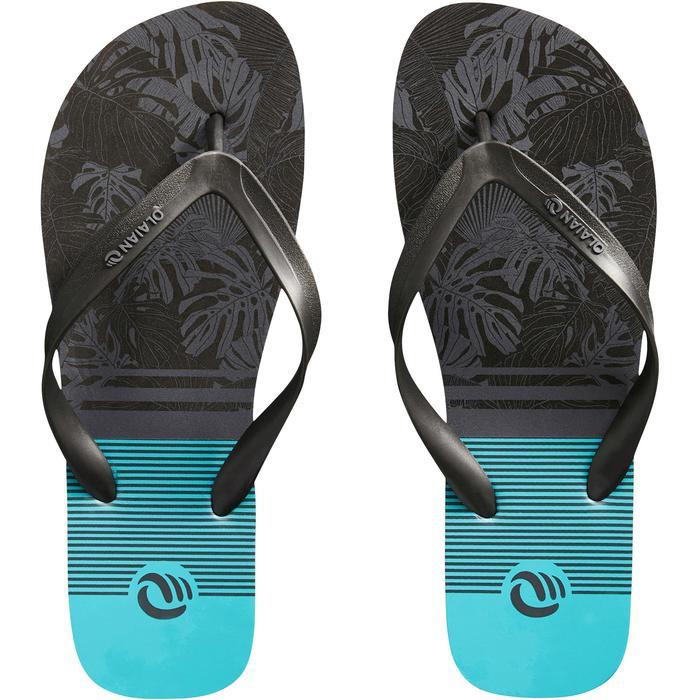 Chanclas De Playa Surf Olaian TO 120 Hombre Floral Azul