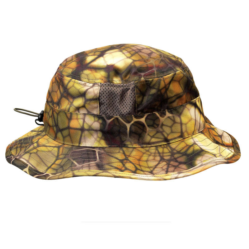 STALK CLOTHING DRY/WET WEATHER Shooting and Hunting - Breathable Hat 500 Furtiv Camo SOLOGNAC - Hunting and Shooting Clothing