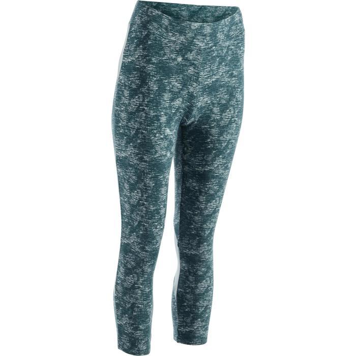 Legging 7/8 520 Gym & Pilates femme bleu grisé chiné - 1289081