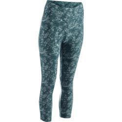 Legging 7/8 520 Gym & Pilates femme bleu grisé chiné