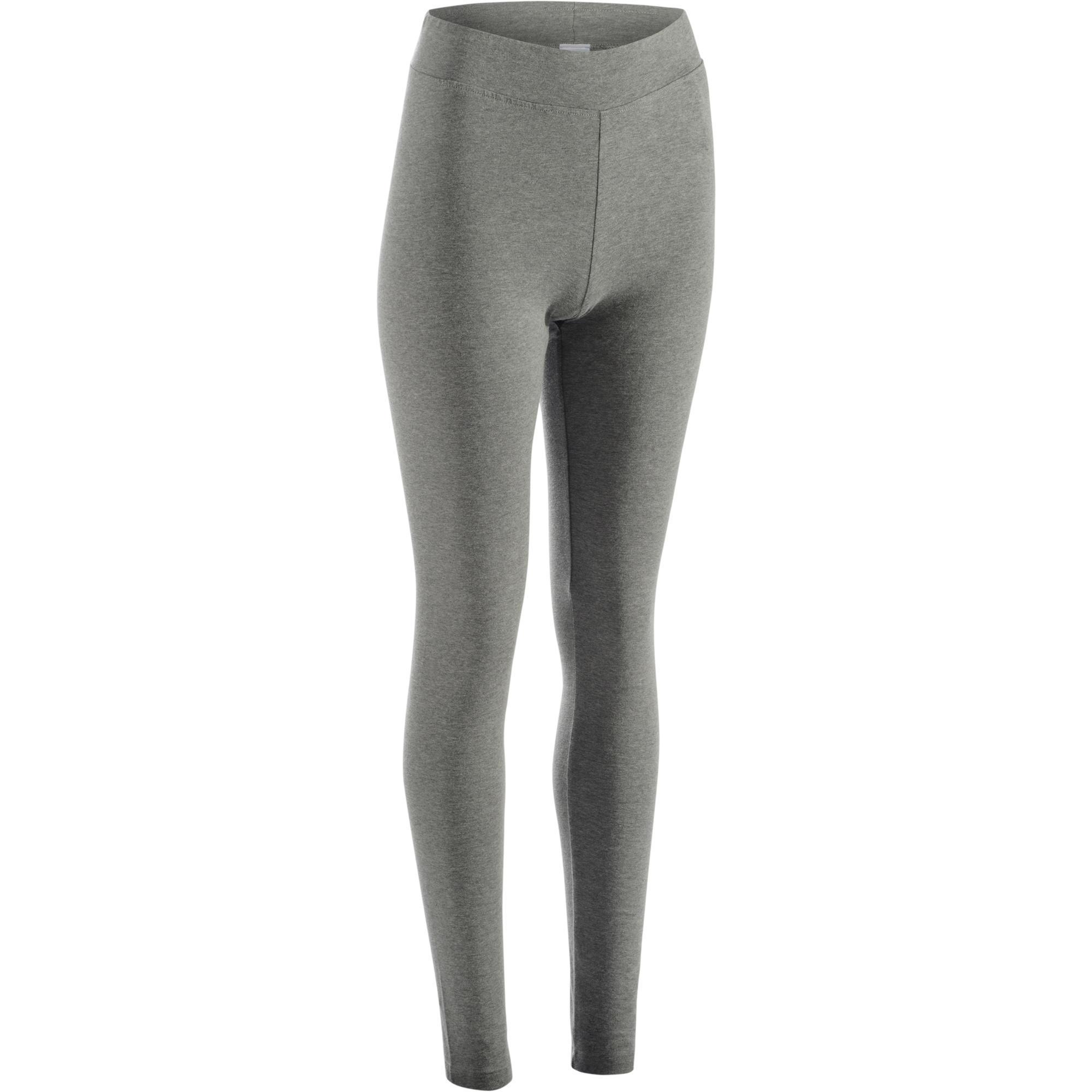 Domyos Legging FIT+ 500 slim fit gym en stretching dames grijs kopen met  voordeel acba7deb714