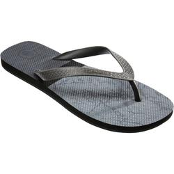 Chanclas De Playa Surf Olaian TO 500 Hombre Negro Gris