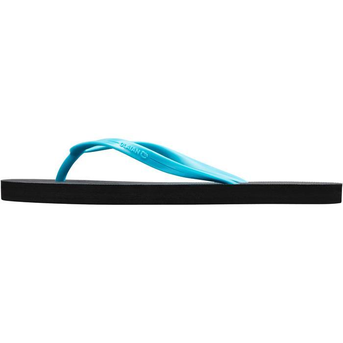 Slippers dames 50 zwart turquoise