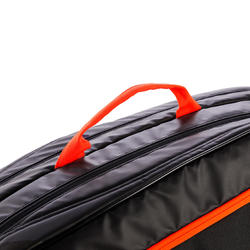 SAC SPORTS DE RAQUETTES ARTENGO 530 L NOIR ORANGE
