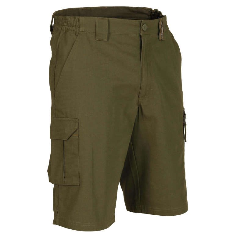 LIGHTWEIGHT CLOTHING Shooting and Hunting - Bermuda 500 khaki SOLOGNAC - Hunting and Shooting Clothing