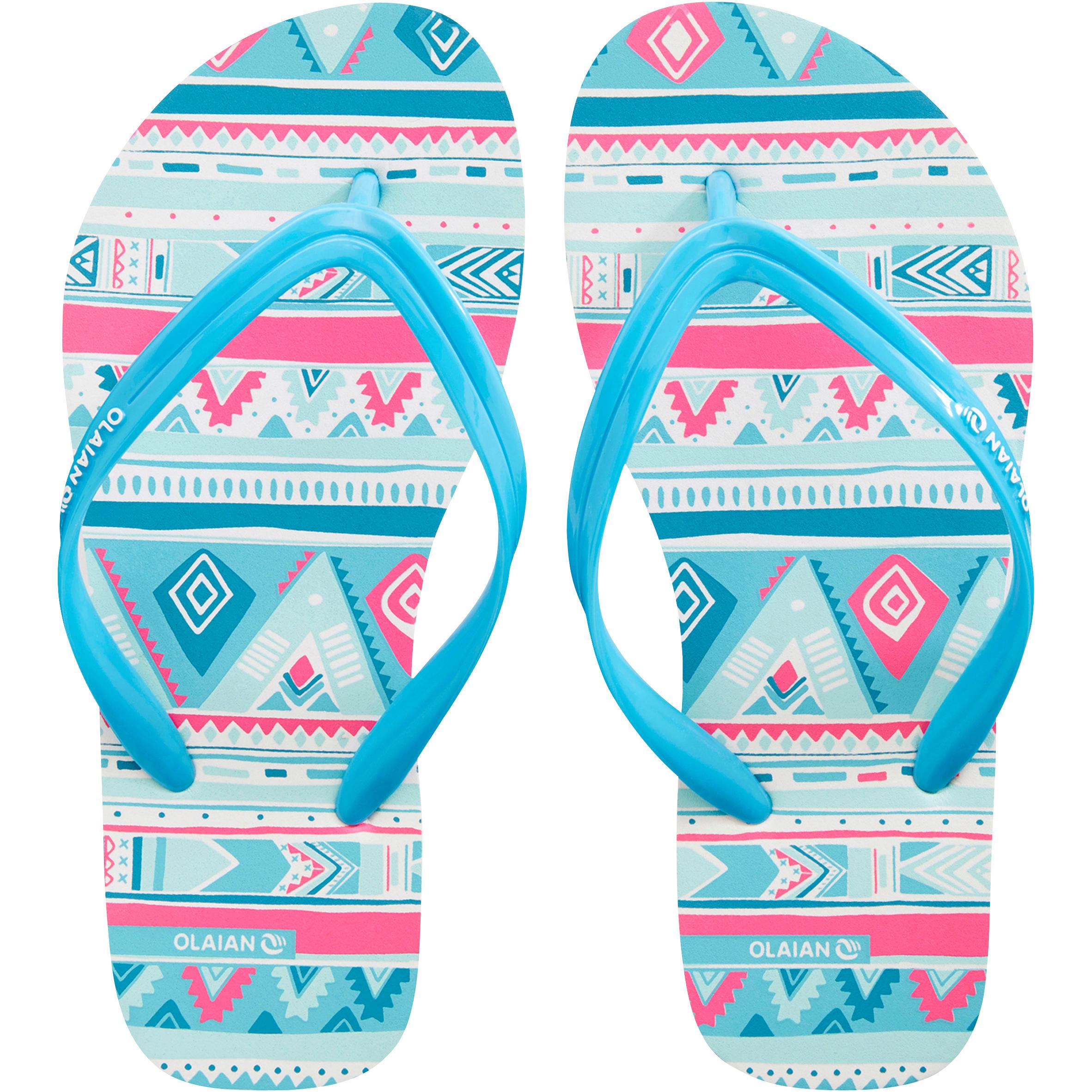 Sandales de plage pour fille TO 150 G Géo Blue