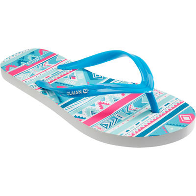 TO 150 G Geo Girls' Flip-Flops - Blue