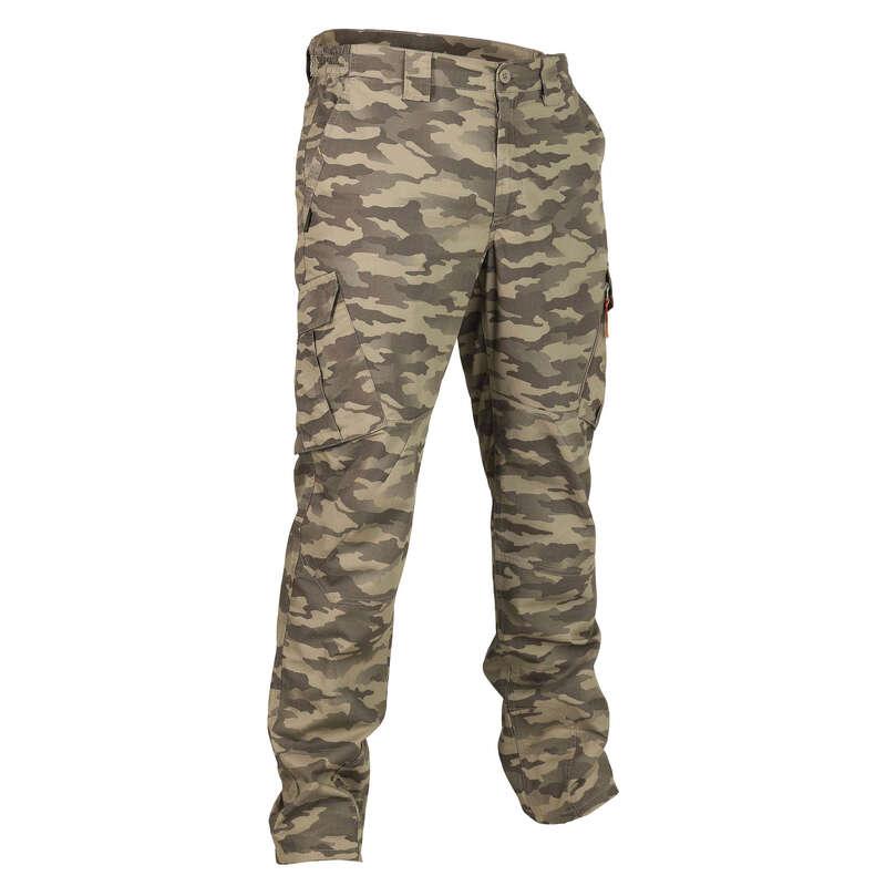 Одежда на теплую погоду Мужская летняя одежда - Брюки тактич муж Sg500 камуф SOLOGNAC - Мужская летняя одежда