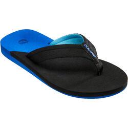 男童款夾腳拖鞋TO 550 KS-黑色/藍色