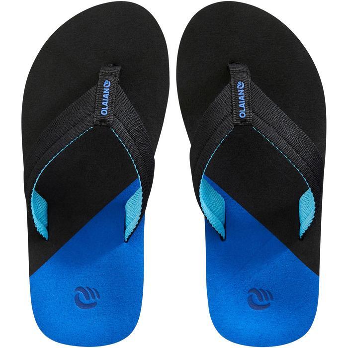 Slippers kind 550 zwart/blauw