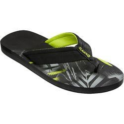 男款夾腳拖鞋TO 550-黑色熱帶款