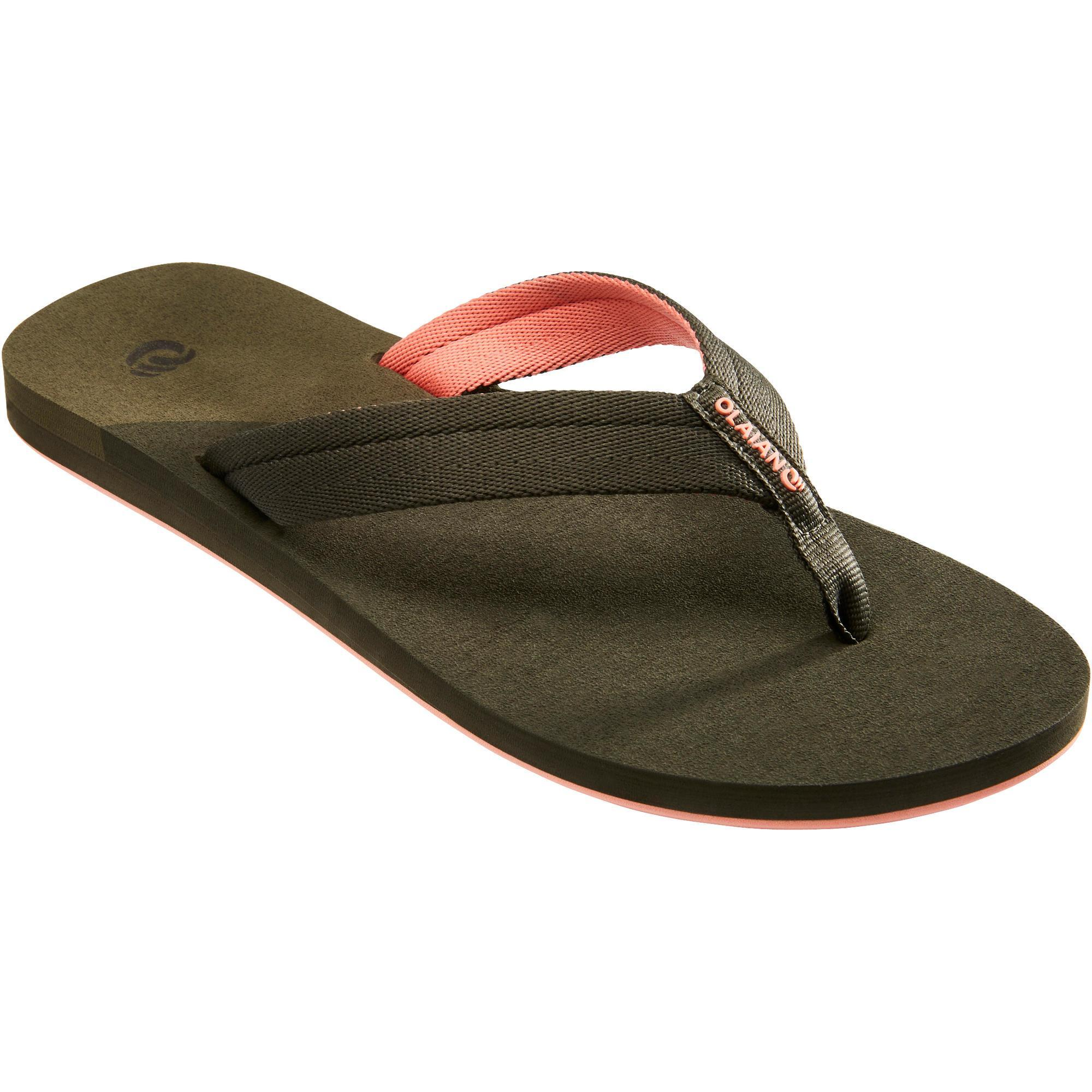 2544441 Olaian Slippers dames 550 Kaki