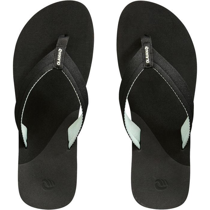 Chanclas Playa Surf Olaian Mujer Dedo Negro