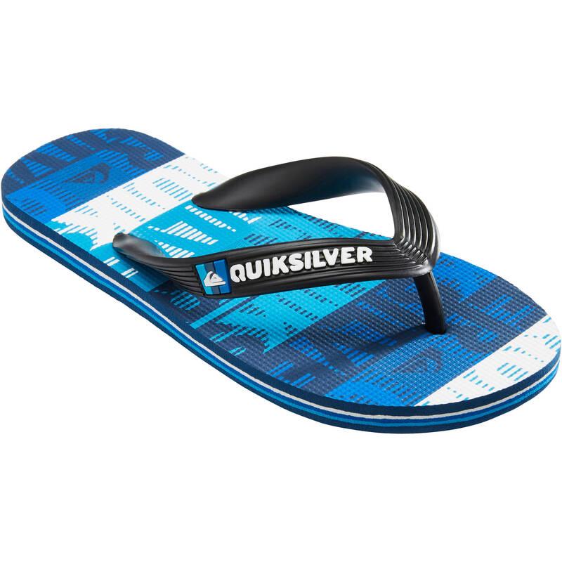 DĚTSKÁ PLÁŽOVÁ OBUV Surfing a bodyboard - DĚTSKÉ ŽABKY MOLOKAI MODRÉ  QUIKSILVER - Obuv, osušky a doplňky k vodě