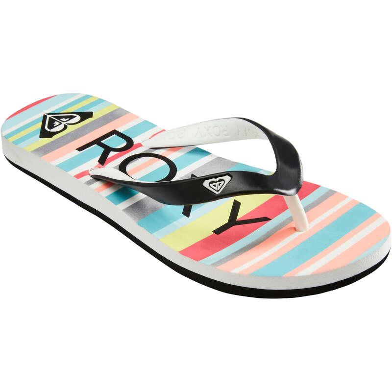 DĚTSKÁ PLÁŽOVÁ OBUV Surfování a bodyboard - DÍVČÍ ŽABKY TAHITI  ROXY - Obuv a doplňky k vodě