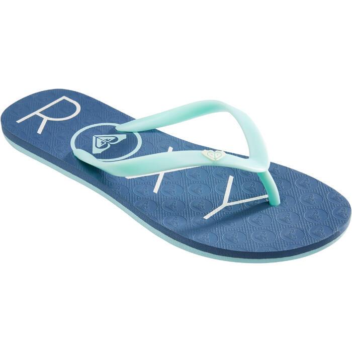 Chanclas Playa Surf Roxy Mujer Dedo Azul Turquesa