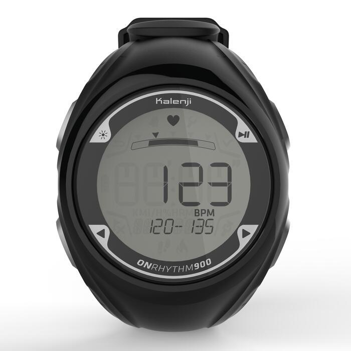2efe040a6 Reloj Pulsómetro Muñeca Running Kalenji Onrhythm 900 Negro Kalenji ...